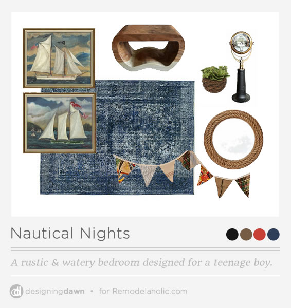 Rustic nautical teen boy bedroom ideas