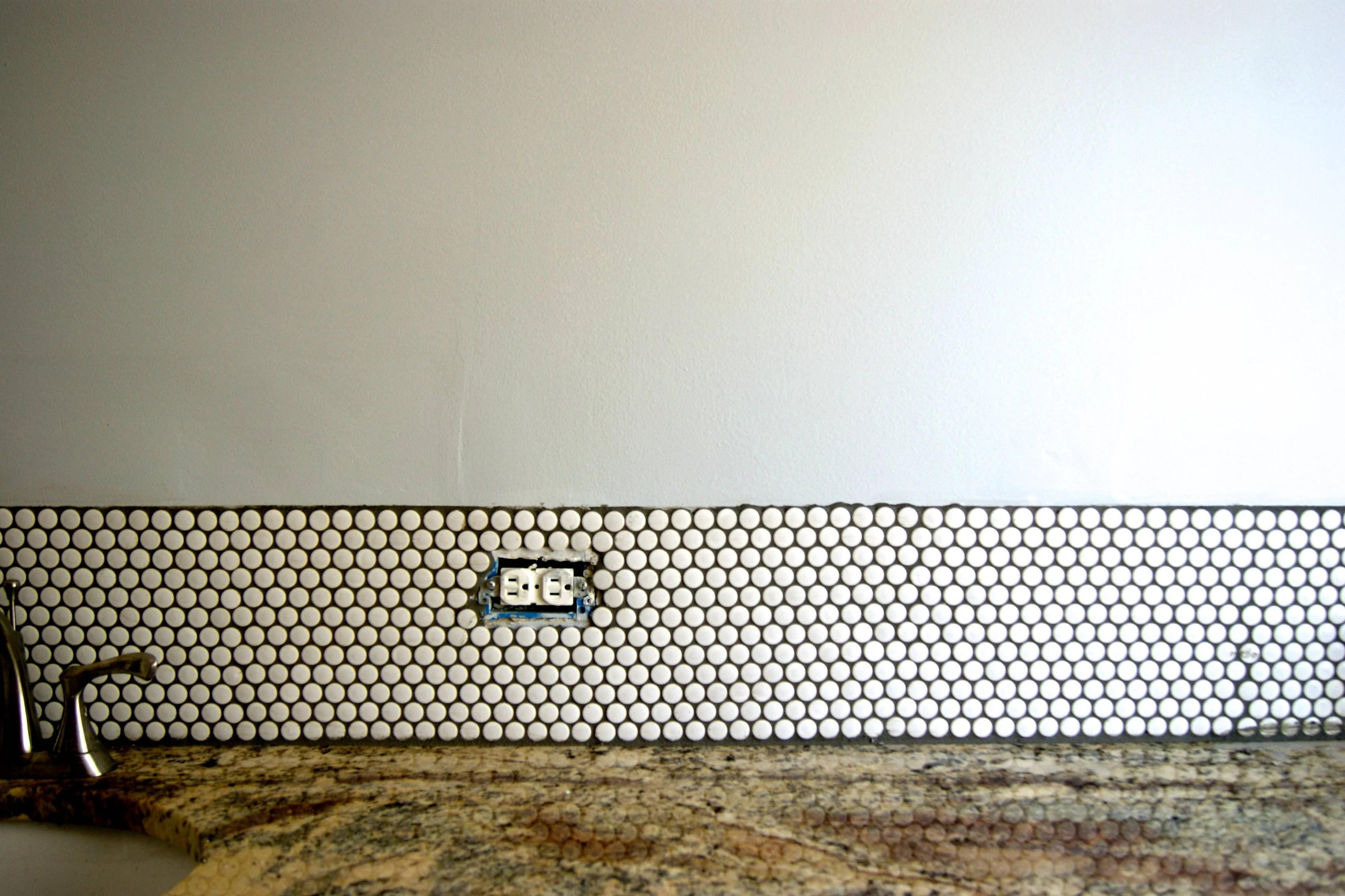 DIY Penny Tile Backsplash