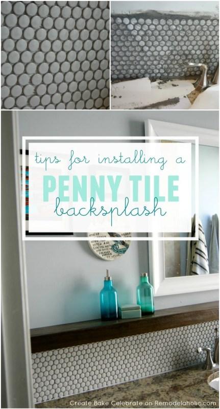 Tips for Installing a Penny Tile Backsplash