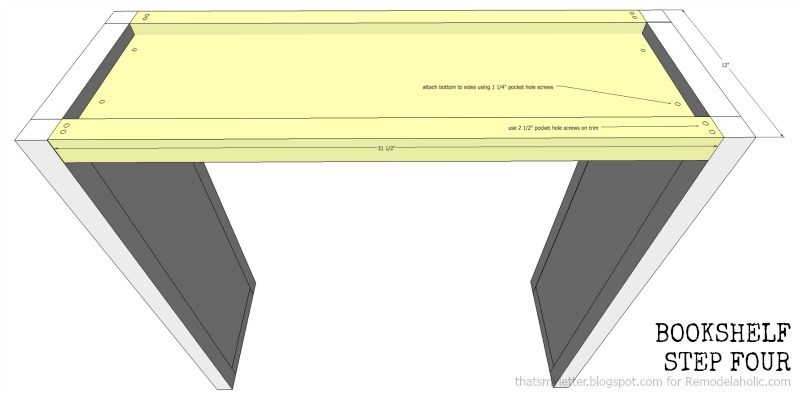 how to build a bookshelf with adjustable shelves, step four