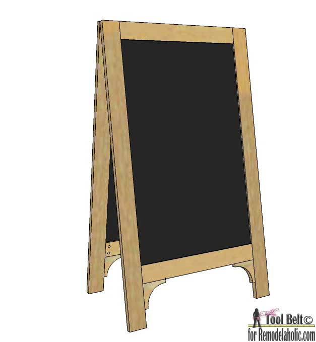 Remodelaholic Diy Chalkboard Easel