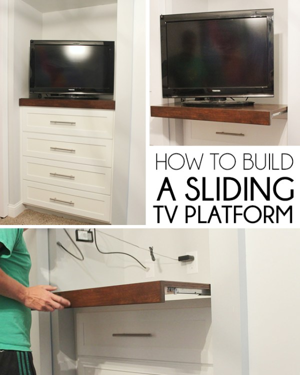diy sliding platform for tv (Home Coming)