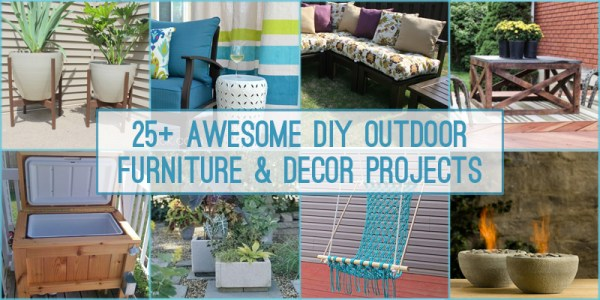 25 DIY Outdoor Furniture and Decor Projects + Tutorials