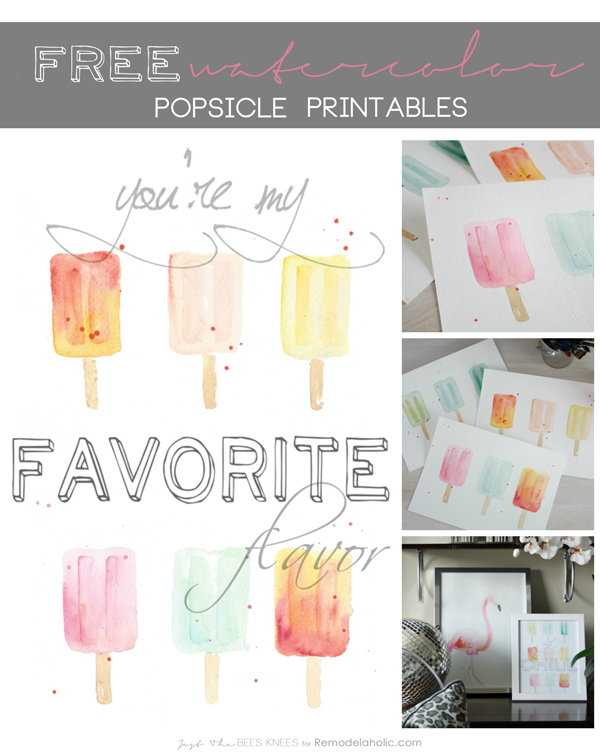 popsicle watercolor printable