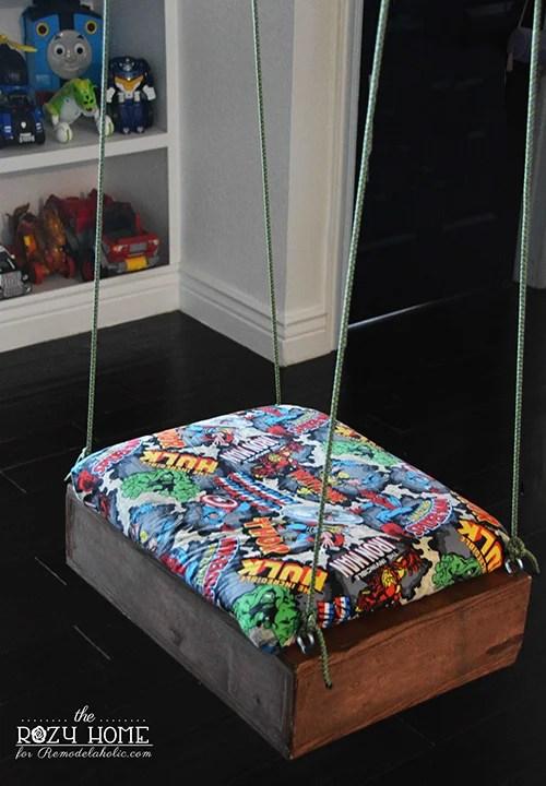 DIY indoor swing for kids