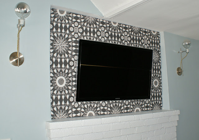 Remodelaholic | 95 Ways to Hide or Decorate Around the TV ... on wall mount tv cables, wall mount tv installation service, wall mount tv drywall, wall mount tv speakers, wall mount tv tools, wall mount tv ductwork, wall mount tv components, wall mount tv frame, wall shelf for cable box, wall mount tv antenna, wall mount telephone wiring, wall tv wire cover, wall mount tv controller, cable tv wiring, wall mount tv accessories, wall mount tv framing, wall switch wiring, wall mount tv cabling, wall mountable computer monitors, wall mount tv outlets,
