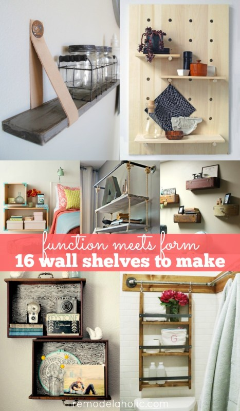 16 DIY Wall Shelves -- beautiful and functional wall decor!