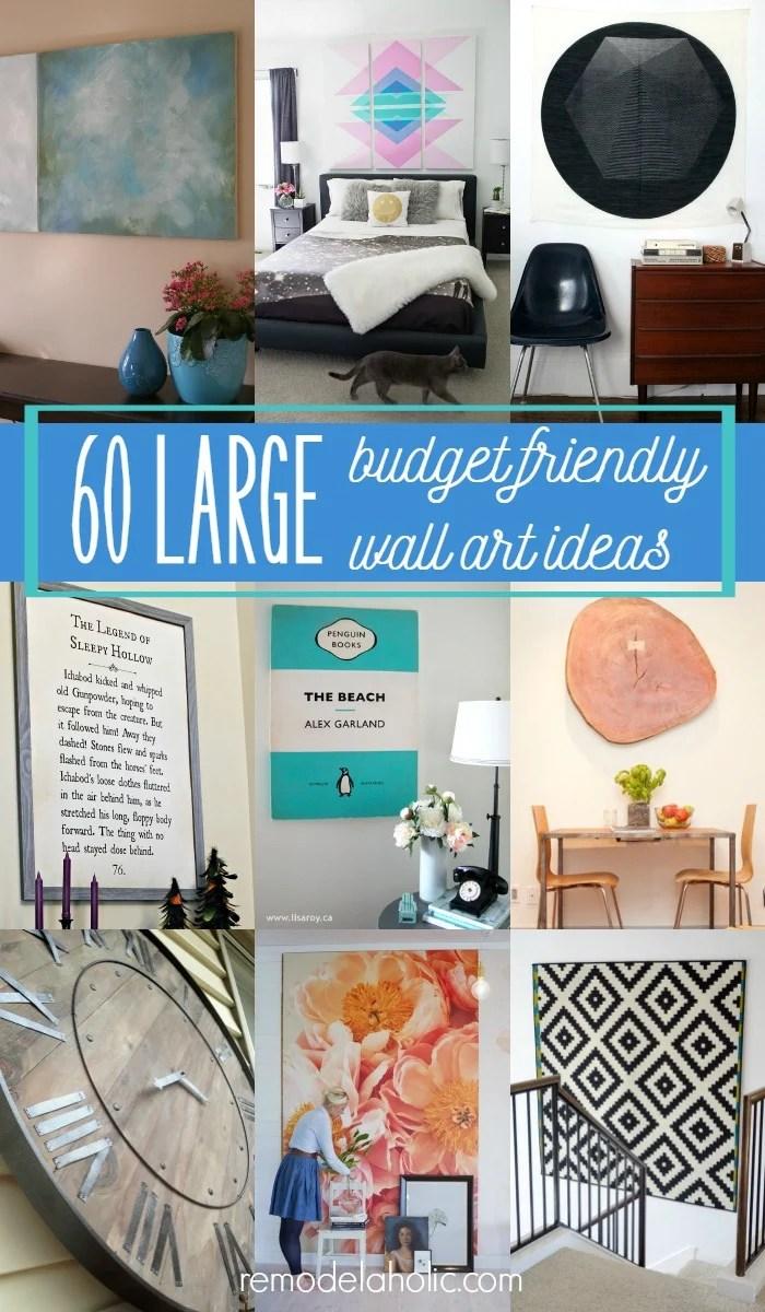 Remodelaholic 60 Budget Friendly Diy Large Wall Decor Ideas
