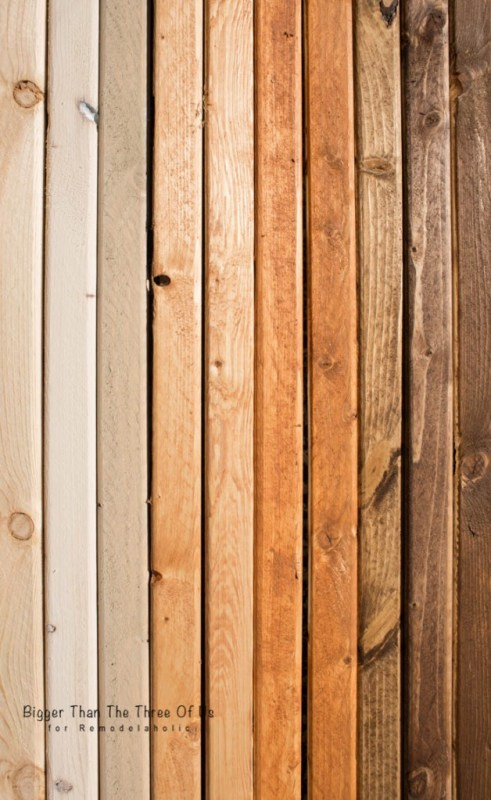 DIY Ombre Wood Stain by Bigger Than The Three Of Us for Remodelaholic