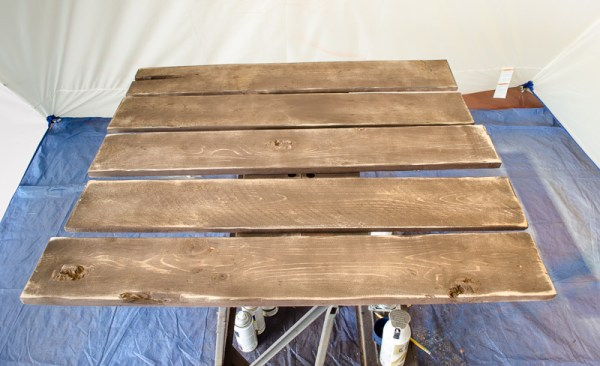 DIY Weathered Wood for Guest Room Wall Art by A Prudent Life for Remodelaholic