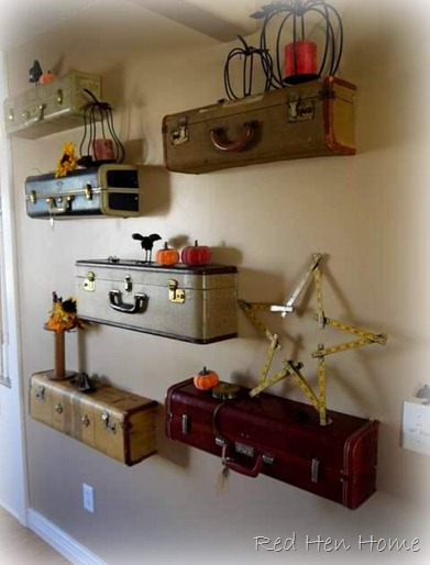 DIY suitcase shelves tutorial (Red Hen Home)