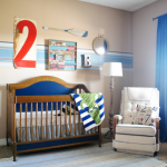 A nautical nursery design.