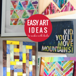 Easy Art Ideas To Make With Kids, DIY Kids Wall Decor Ideas, Remodelaholic