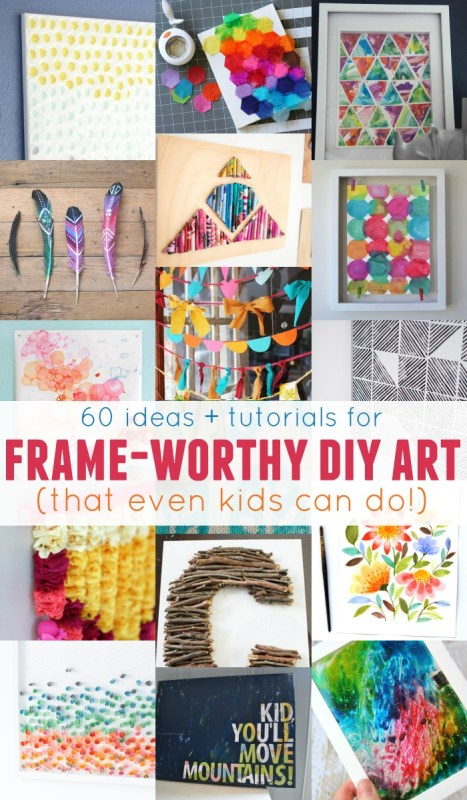 Dress up any wall in your home with these easy wall art projects -- easy enough for both kids AND adults to do!