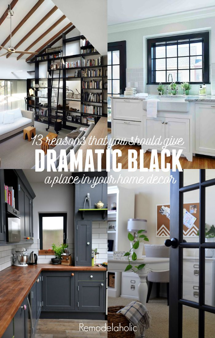Remodelaholic Decorating With Black 13 Ways To Use Dark Colors In Your Home