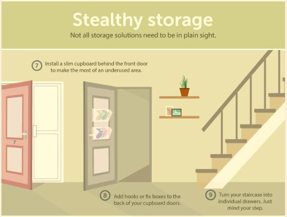 Hallway Decor - Stealthy Storage