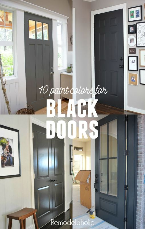 Painting your interior doors black gives your home a whole new style, and it's an inexpensive update. Here are 10 black and dark gray paint colors to consider.