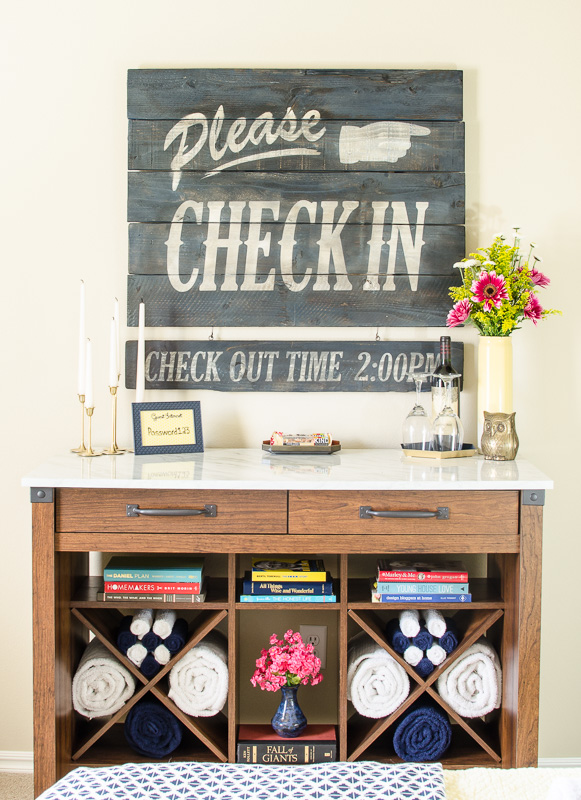 Affordable DIY Wall Decor: Vintage Hotel Style Aged Wood Sign by A Prudent Life for Remodelaholic