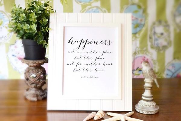 Walt Whitman Happiness Printable