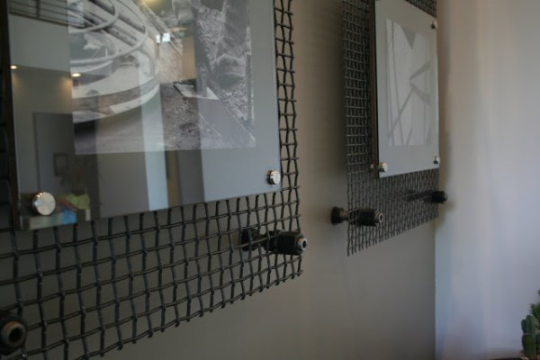 acrylic and metal grid industrial photo frame (My Design Dump)
