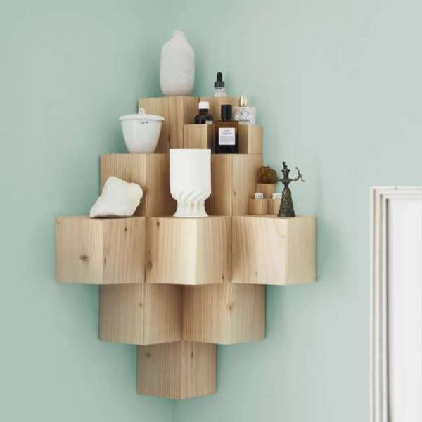blocky pixel corner shelf