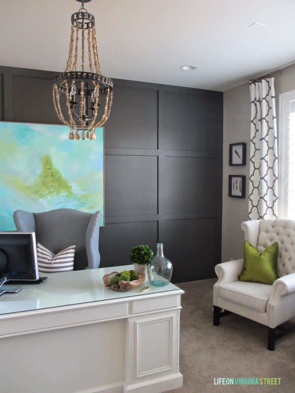 dark painted focal wall (Life On Virginia Street)