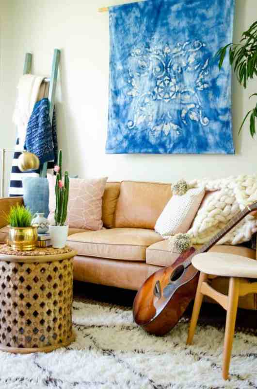 Diy Large Wall Art Batik Stencil Dye, Place Of My Taste