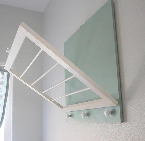 diy wall-mount laundry drying rack (Centsational Girl)
