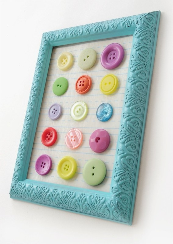 easy colorful button art for kids (ModPodge Rocks)