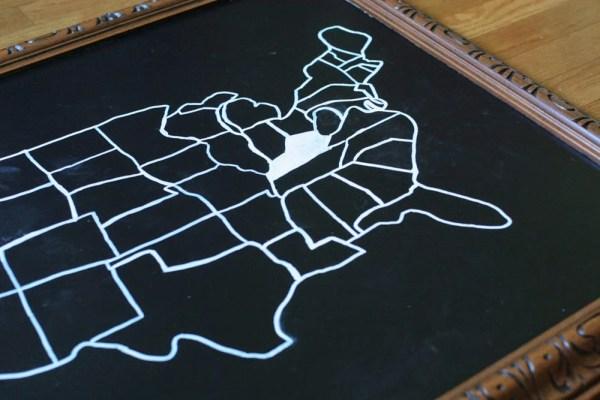 DIY Wall Decor Ideas: easy diy chalkboard map (Craftivity)