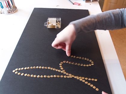 diy thumbtack word art