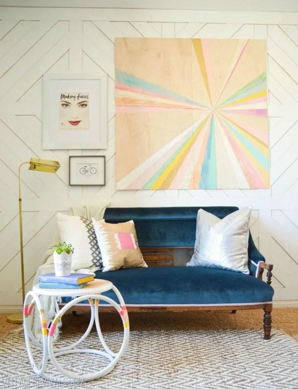 extra large pinwheel or starburst wall art DIY (Vintage Revivals)