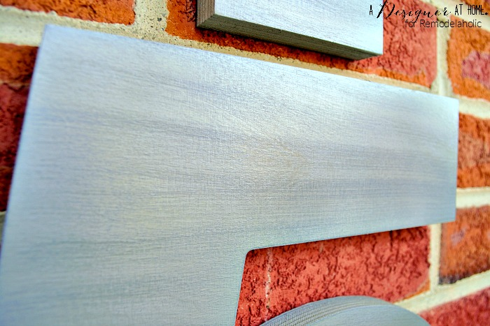faux brushed nickel finish on wood technique