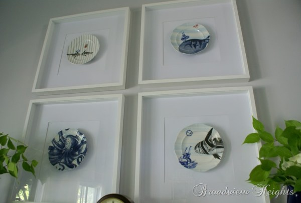 DIY Wall Decor Ideas: framed plates wall decor (Broadview Heights)