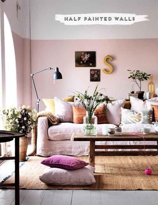 half aointed wall - pink