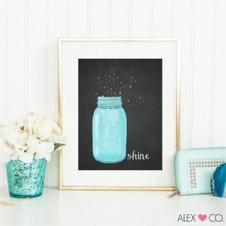 mason jar shine printable