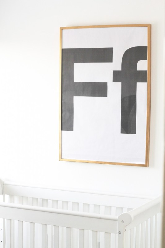 Large Wall Decor: monogram engineer print DIY (Chris Loves Julia)