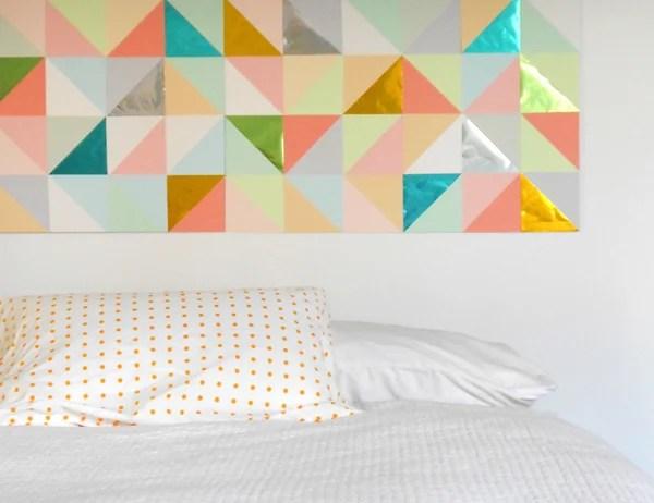patchwork geometric large wall art (tutsplus)