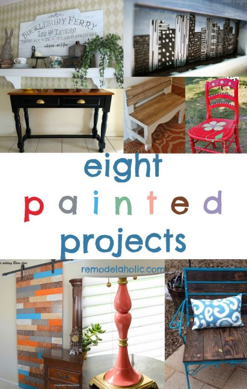 If you have a free day or a free weekend, you can try one of these painted projects! Paint is the cheapest, easiest way to get a new look.