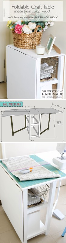 Craft Table made from scrap wood - featured by Oheverythinghandmade - Pin it