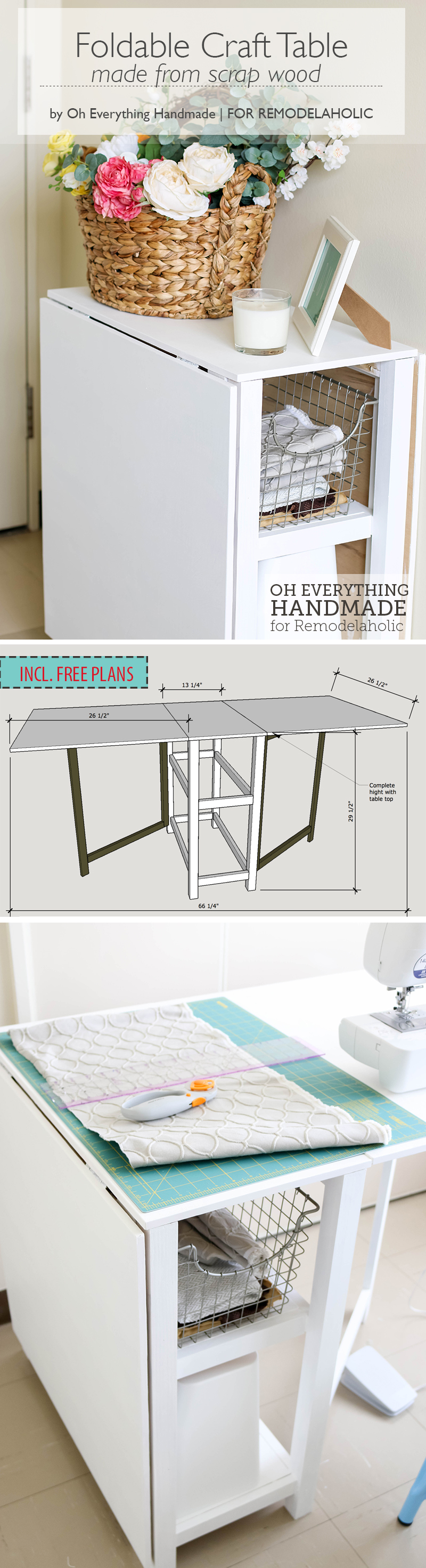 Make Your Small Craft Area Work With This Space Conscious DIY Foldable  Craft Table,