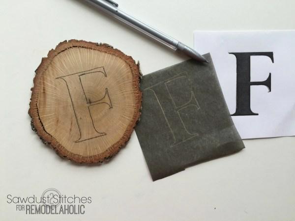 DIY wood slice fall banner remodelaholic.com