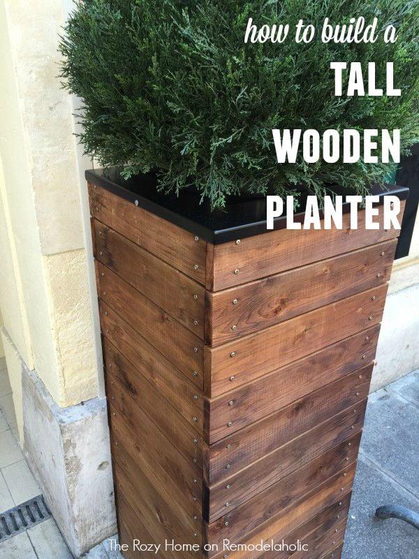 Build a Tall Wooden Planter  