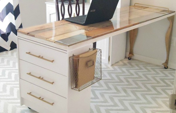 IKEA rast dresser into craft room desk Addison Meadows Lane