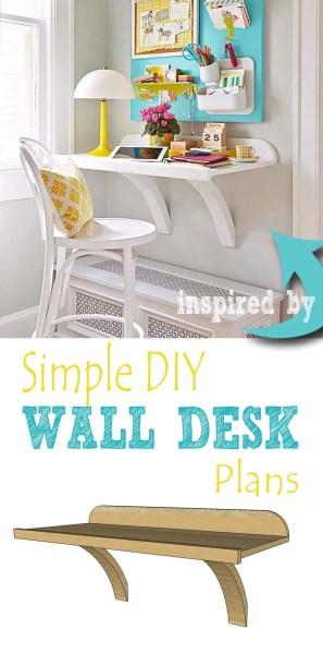 Simple DIY wall desk pin