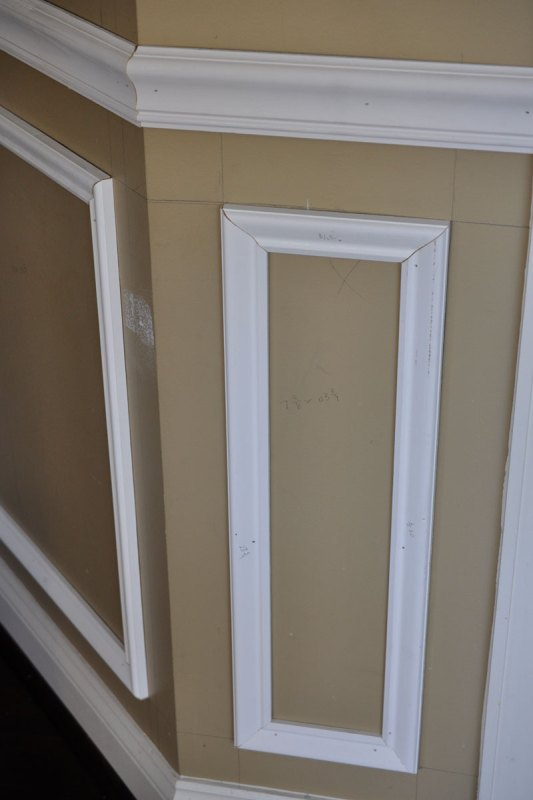 Tips and Tricks for Installing Trim and Wainscoting -- yes, it's okay to draw on the walls!