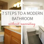 7 Steps to a Modern Bathroom Without Renovating