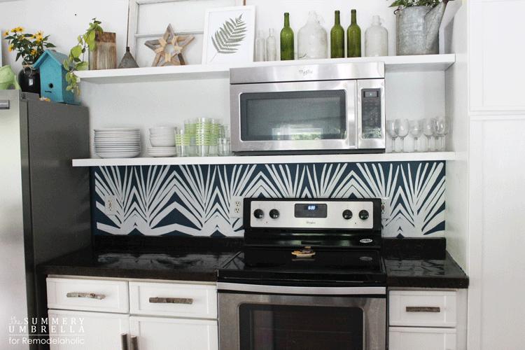Merveilleux Diy Kitchen Backsplash Stencil 2