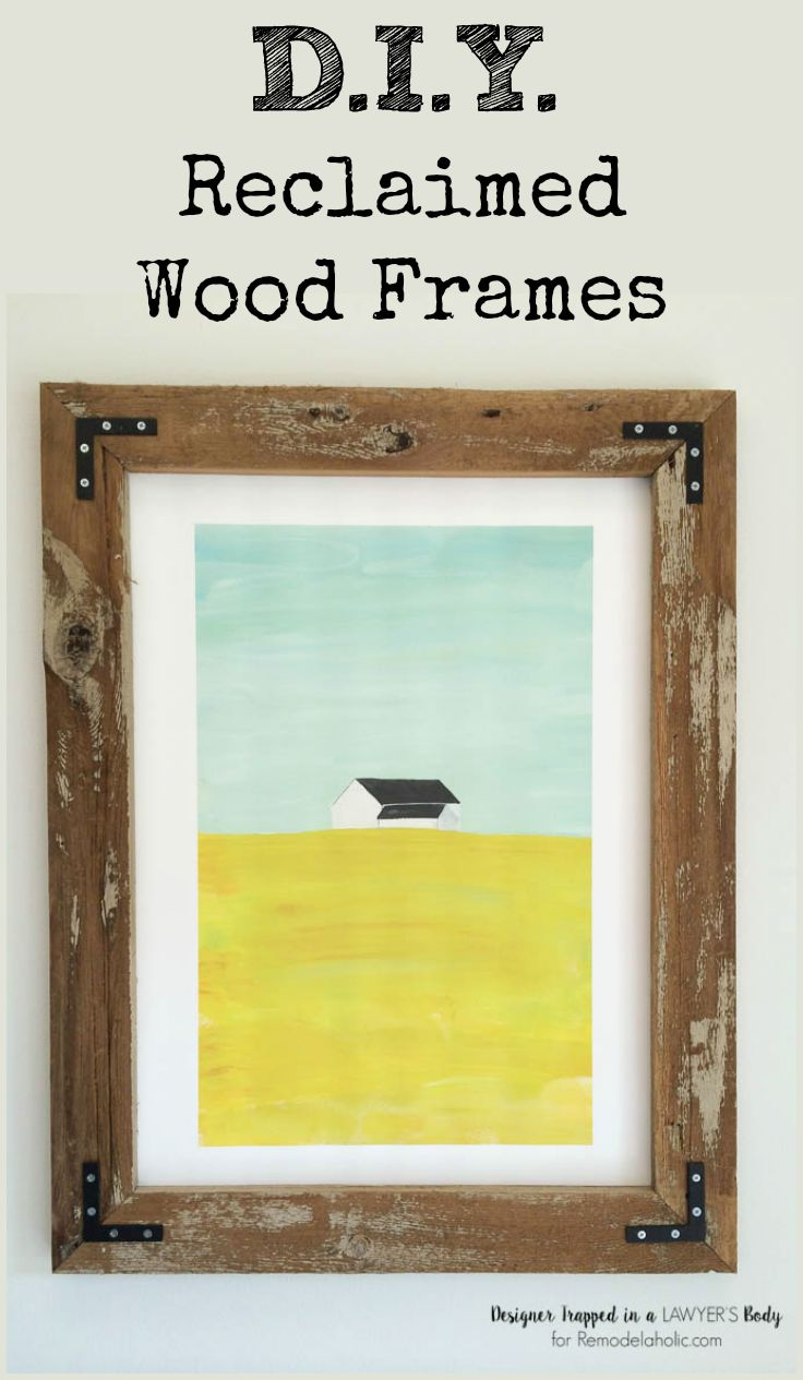 Remodelaholic | DIY Rustic Wood Art Frames
