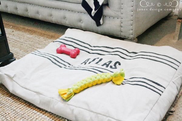 dropcloth dog bed